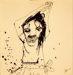 Tjejtsarinnor heter Ida Bratts första separatutställning som i dag öppnar på Härke, fylld av associativa teckningar.