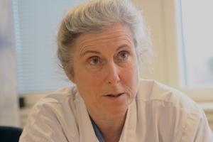 Ingrid Liljenberg, överläkare i kirurgi, vid Sollefteå sjukhus.