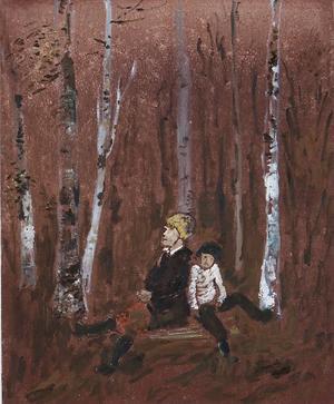 I Björkskogen, målning av Hans Wigert.