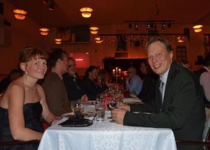 Abbe Ronsten tillsammans med frun Liza Ronsten på Säters företagsgala i oktober 2011.