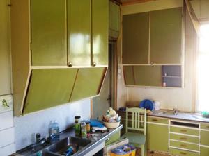 Köket före renovering.