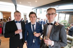 Oliwer Karlsson, Martin Norgren och Gabriel Hjort.