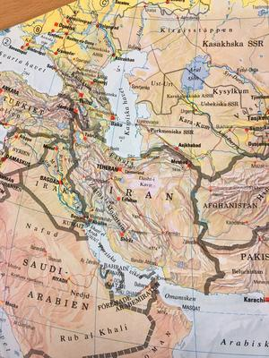 Iran med omnejd.