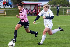 Michaela Bäckström har haft skadebekymmer nästan hela säsongen men nu på slutet har hon kommit i form. Mot Frösön gjorde Michaela två mål och svarade för en bra insats även i övrigt.