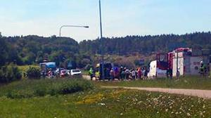 Kvinnan förolyckades i Rimbo på onsdagen.