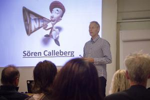 Sören Calleberg informerade företagarna om bostadsbristen under mötet som föreningen Företagarna bjudit in till under onsdagen.