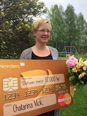 Chatarina Vick har utsetts Årets distansstudent 2016 och fick ett stipendie på 12 000 kronor.