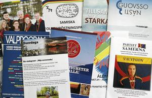 Nio partier och 286 kandidater kämpar om de 31 platserna i Sametinget. Trots partisplittringen vittnar valprogrammen om en stark samisk värdegemenskap.