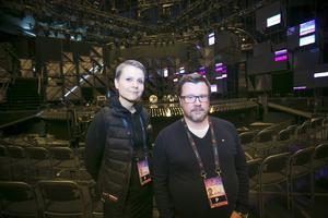 Cecilia Zolltisch, SVT, och Mikael Lindström, Blixten&Co, leder arbetet med att göra Gavlerinken mello-redo.