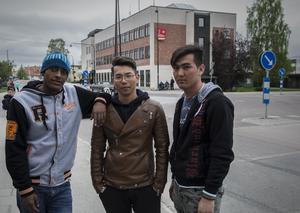 Yones Haile, Reza Ahmade och Mohammad Mohammadi.