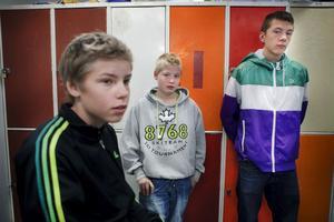 Äntligen satsas det i Kilafors. Joakim Lundin, Pontus Gabriel och Filip Aldén är nöjda.