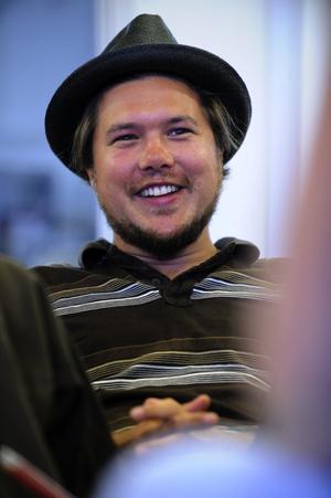 Daniel Wallentin jobbar som filmkonsulent på halvtid, två dagar i veckan. Resten av tiden spenderar han på egna filmprojekt. Foto:Kjell Jansson