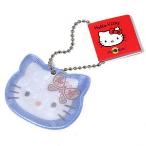 Den söta katten Hello Kitty finns i nästan alla former och material, även som reflex. Den här finns hos Bluebox.se.