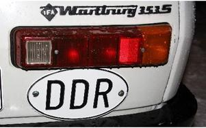 DDR-skylten från forna Östtyskland finns kvar.