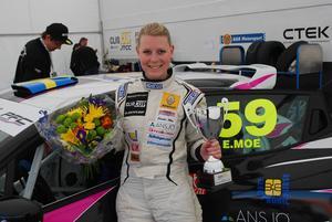 Emelie Moe var jättenöjd med helgens premiärtävling i Skövde.