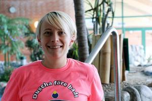 Johanna Thorsell är chef på Fjärran Höjderbadet.