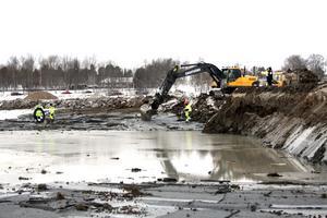 . På sina djupaste ställen kommer den nya sjön bli nästan tre meter djup.
