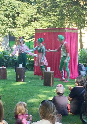 Clownfamiljeföreställningen Trio Smack var populär.