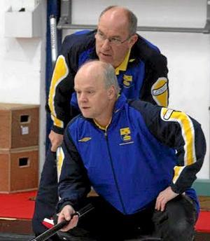 Det blev ingen bra start på serien för Kalle Nordlund och Per-Arne Andersson. Foto: privat