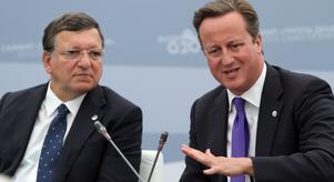 Jose Manuel Barroso och David Cameron har inte riktigt samma syn på EU.