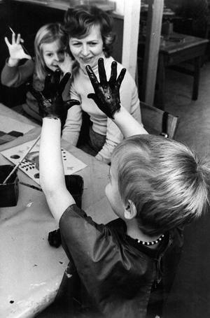 Förskola i Hökåsen. 12 mars 1976.