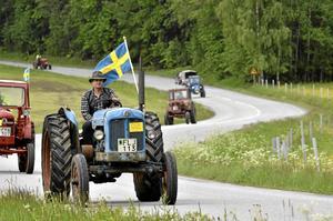 Traktorparaden i Nora på nationaldagen *** Local Caption *** Traktorparaden i Nora på nationaldagen