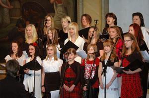 Alfta församlings flickkör som var något förstärkt med verkade i sju av konsertens nummer.