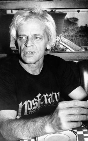 Klaus Kinski under inspelningen av