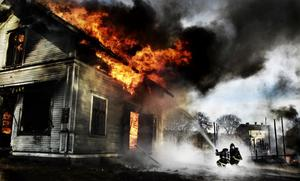 Vinnarbilden tog Jens under en brandövning i Norrala.