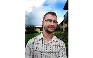 Lukas Pawelec har kommit från Lublin, Polen till Högskolan Dalarna för att studera språk.Foto: Camilla Sellergren