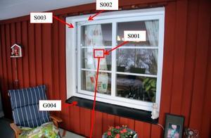 Vid inbrottet i Falun tog sig inbrottstjuven in genom ett fönster. Från platsen stals bland annat ett vapenskåp.