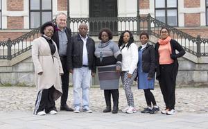 Fem delegater från Ugu District har besökt Söderhamn. Här tillsammans med Thomas Norgren och Maria Svensson från Söderhamns kommun.