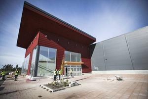 Ingången till Östersund Arena som invigs den 6 december.