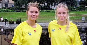 Hanna Daglund och Julia Sand inför ungdoms-OS i somras.
