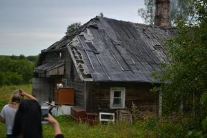 Ett vanligt hus ut i Gaujiena.