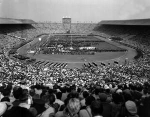 OS-invigningen på Wembley under London-OS 1948.