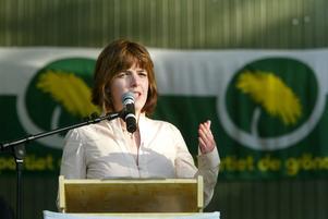 Zaida Catalán på scenen i Almedalen 2004.