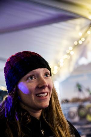 Bibben Nordblom när hon till slut var framme i Utö, om än inte på det sätt hon själv hade tänkt sig. Nu siktar Nordblom, som efter att senaste tre åren haft friplatser som regerande VM-medaljör, att skaffa sponsorer som kan bekosta en ny VM-start nästa år.