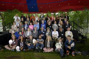Årets sommarpratare samlade när Sveriges Radio presenterade dem på tisdagen.
