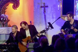 Patrik Isaksson fick feeling vid flera tillfällen under konserten.