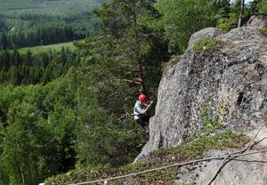 Utsikten när man kommer högst upp är toppen. Här är det Matilda Olausson som snart nått högst upp.
