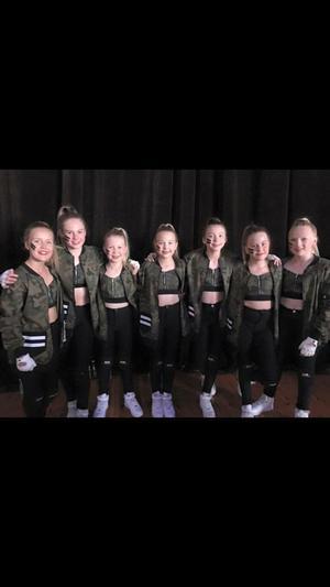 Foto: Privat. Dansgruppen Hype från Bumpyfeet deltog också i EM.