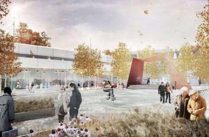 Det vinnande förslaget, Hjärta Bollnäs, av byrån Karavan i Uppsala.