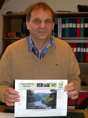 Fler skogsägare måste certifiera sin skog, säger Thomas Westberg.