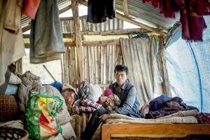 Små barn löper stor risk att drabbas av olika sjukdomar som kolera och diarré när regnen kommer nästa månad. Foto: Jonas Gratzer