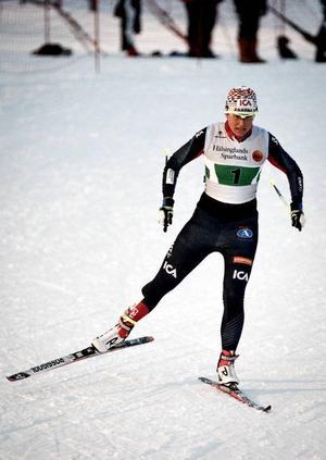 Ida Ingemarsdotter på slutsträckan, just i det här skedet inte kloss mot ledande Sollefteå, men 800 meter senare var Åsarna i topp.