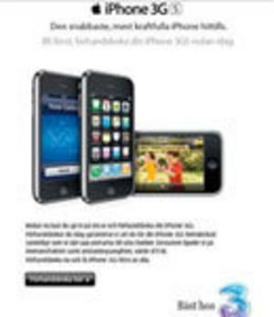 Tres abonnemang för Iphone: Dyrt och mycket
