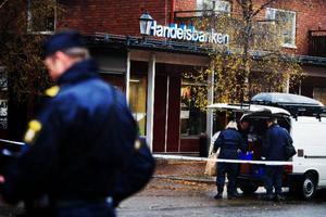 """Rånet mot Handelbankens lokaler i Åre är fortfarande ouppklarat, efter fem månader. Och polisen har inga uppgifter att berätta utan hänvisar till att det är ett """"spaningsärende"""". Foto:   Lars-Eje Lyrefelt"""