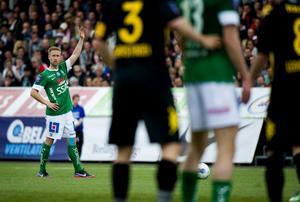 Andreas Ljunggren-Eriksson var en av Brages bästa spelare mot Hammarby, men han fick se sitt lag inkassera fjärde raka förlusten i Superettan.