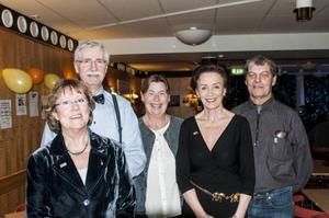 Styrelsen i 20-årsjubilerande Kälarne Jazz- och bluesklubb, Bibbi Ericsson,Oddbjörn Ericsson, Sigrid Sundin, Inger Landerberg och Sune Kvist, går in på sitt tredje decennium med tillförsikt och optimism.